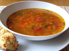 Sopa de verduras light