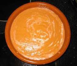 salsa de tomate y calabaza